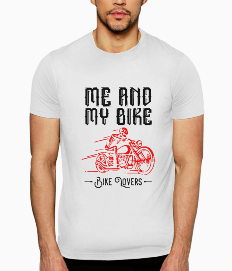 Me and my bike t shirt front