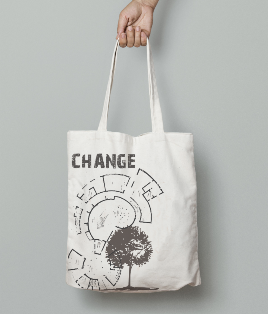 Change tote bag front