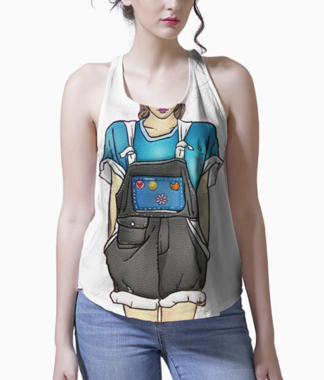 Girl tank front