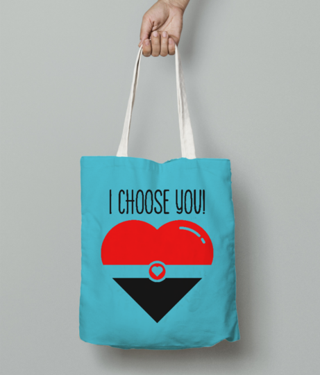 I choose you tote bag front