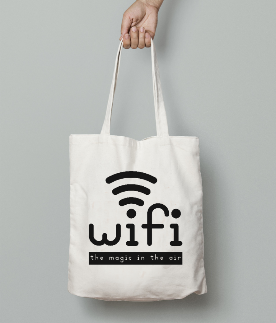 Wifi tote bag front
