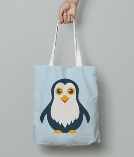 Penguin tote bag front