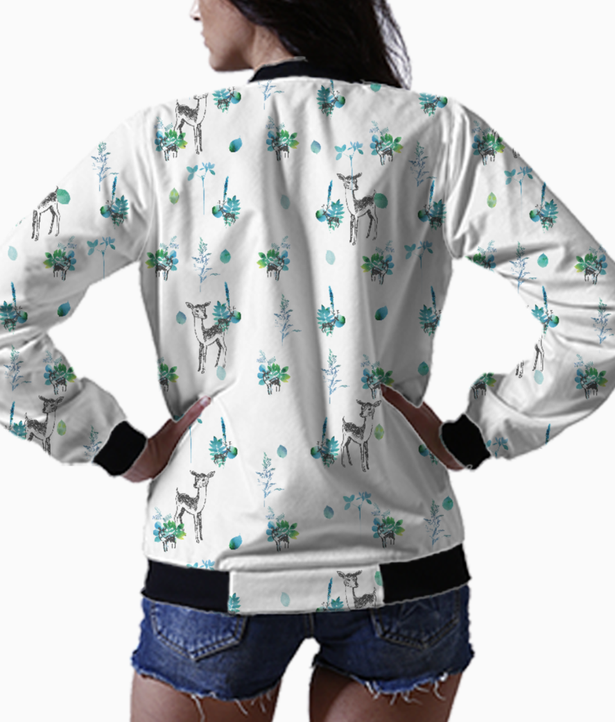 A deer winter bomber back
