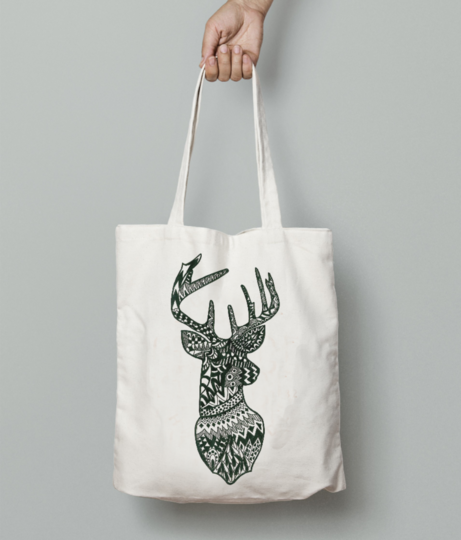 Stag tote bag front