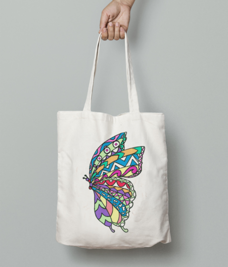 Butterfly tote bag front