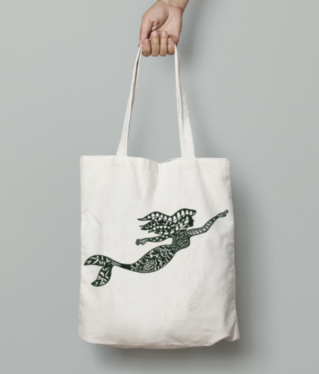 Mermaid tote bag front