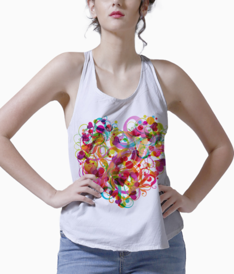 Abstract colorful heart png clipart 994 tank front