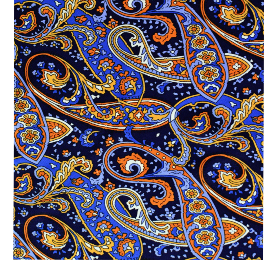 Pattern blue orange motifs