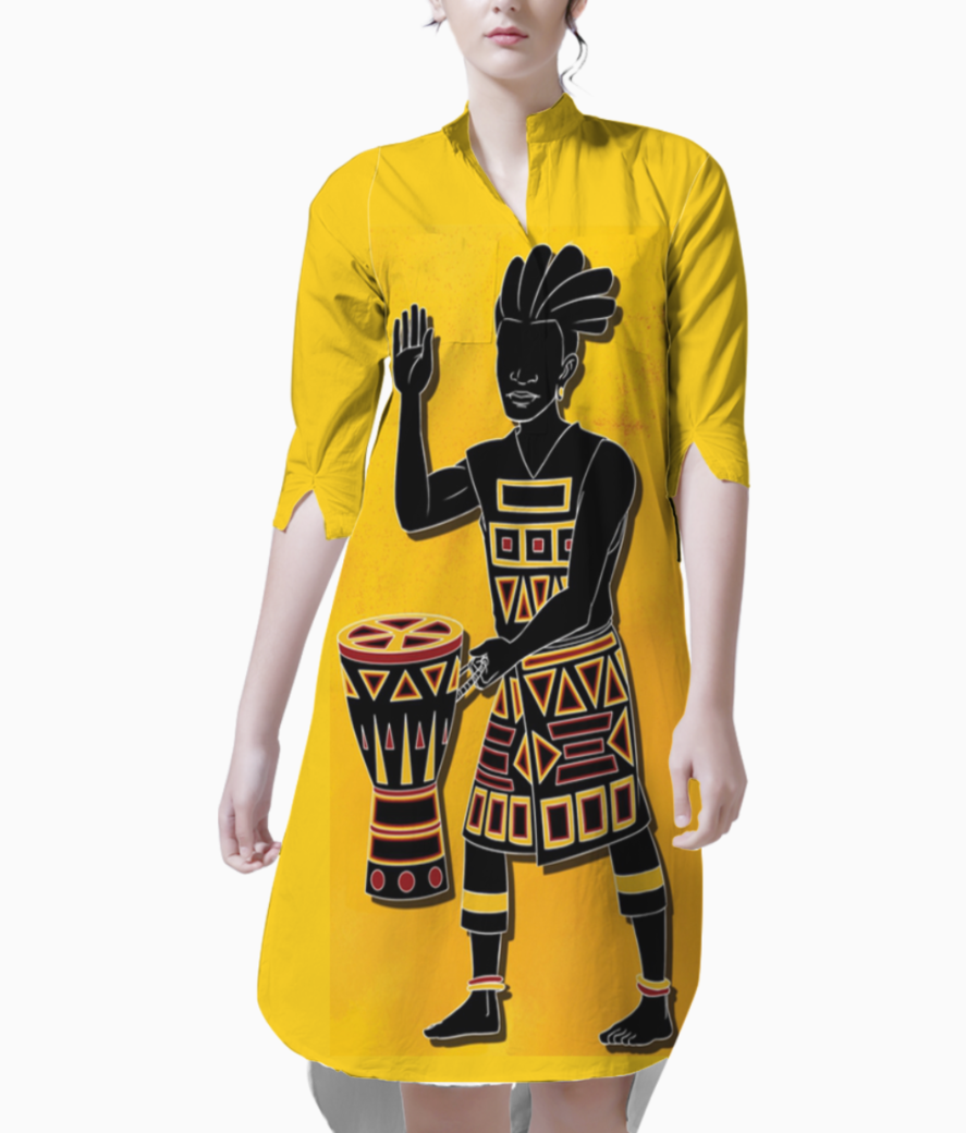 African djembe kurti front