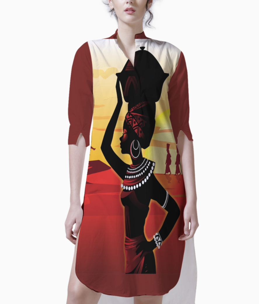 Afro culture kurti front
