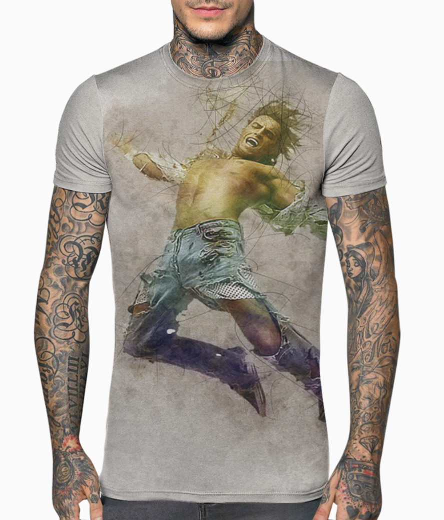 Man freedom t shirt front