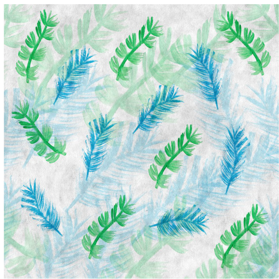 Background blue and green feathers