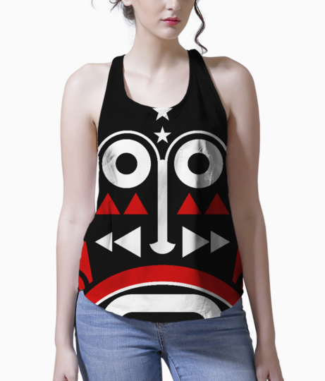 African monk mask tank front
