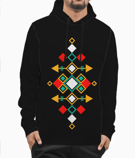 Mexican aztec hoodie front