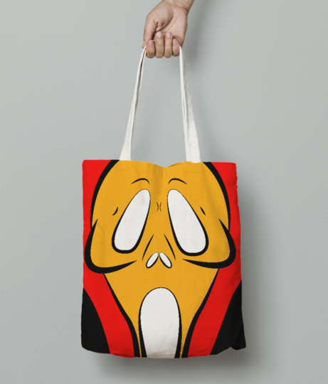 Ghostface tote bag front