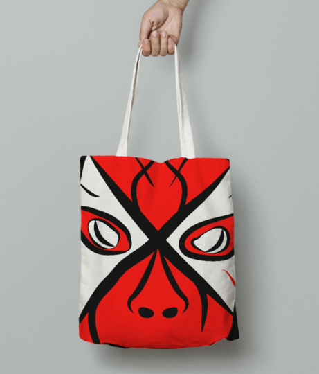 Halloween mask tote bag front