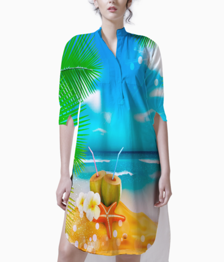 Tropical beach1 kurti front