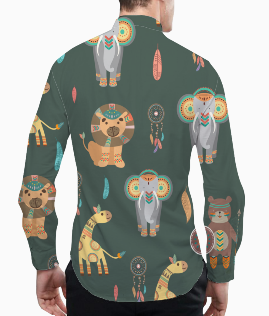 Tribal animals basic shirt back