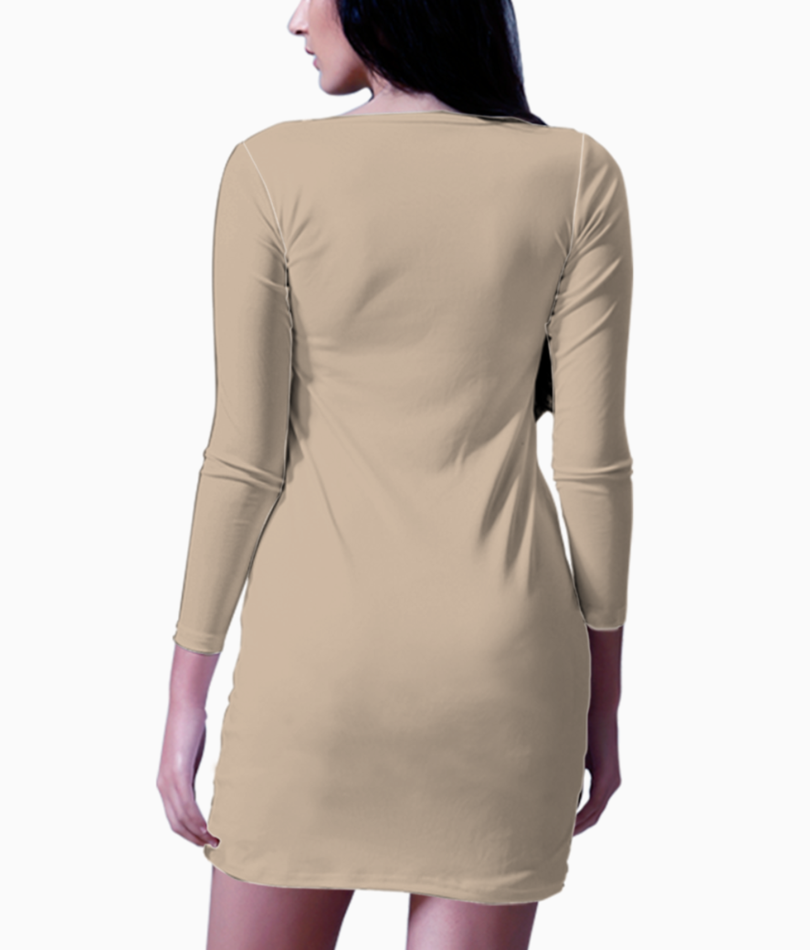 African music player bodycon dress back