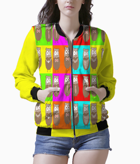 Wisdom in colors bomber front