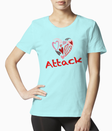 Heart attack tee front