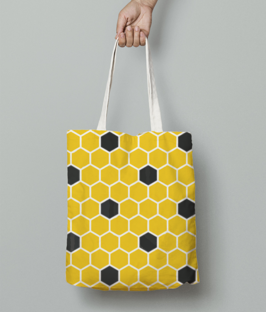 Honey bee 01 tote bag front