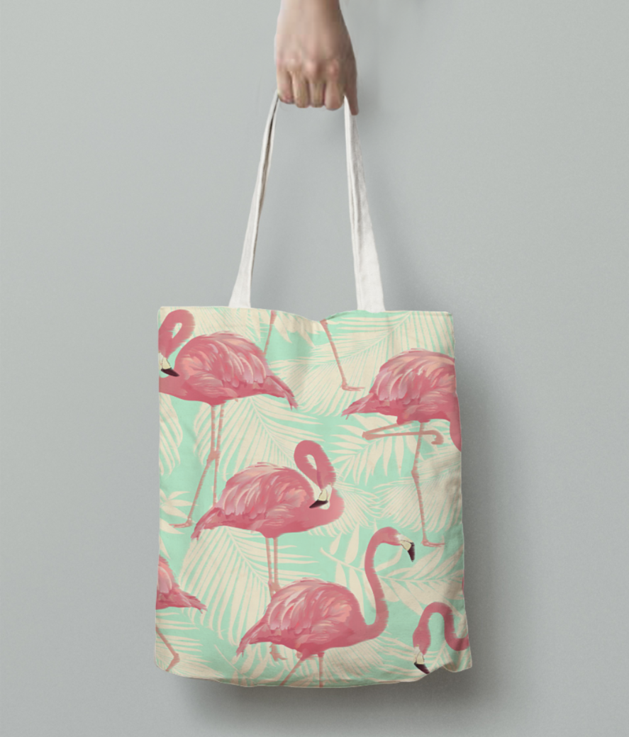 Flamingo tote bag back