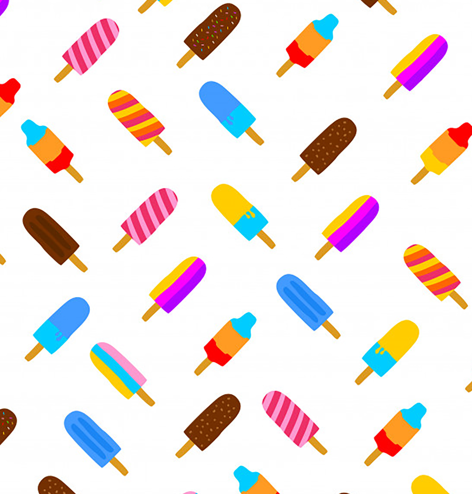 Colorful popsicle