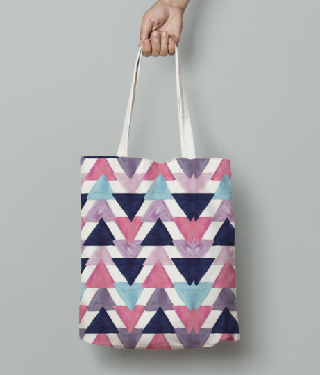 Triangle tote bag front