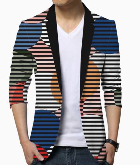 Illusion blazer front