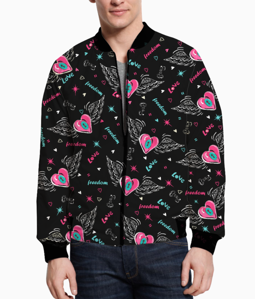 Love is freedom bomber front