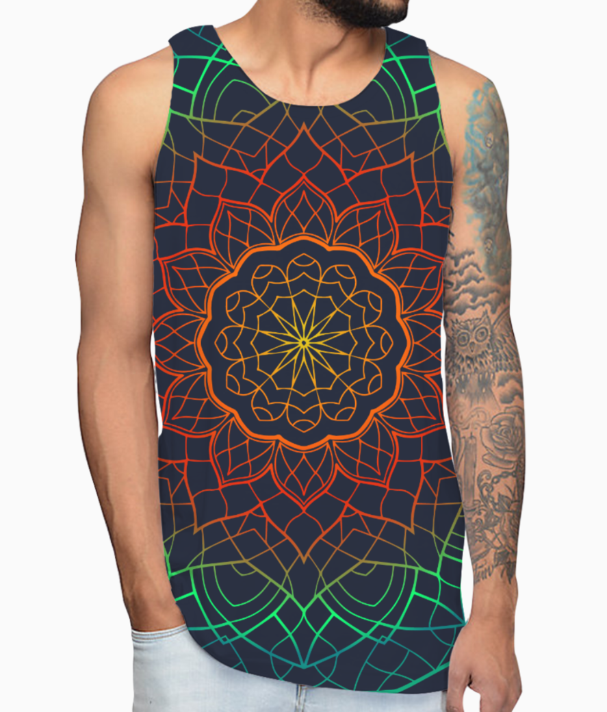 Mandala 2 colour 01 vest front