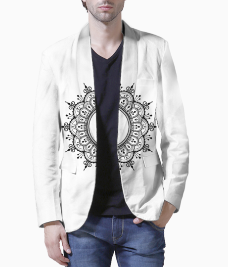 Afro drawing zentangle 5 blazer front