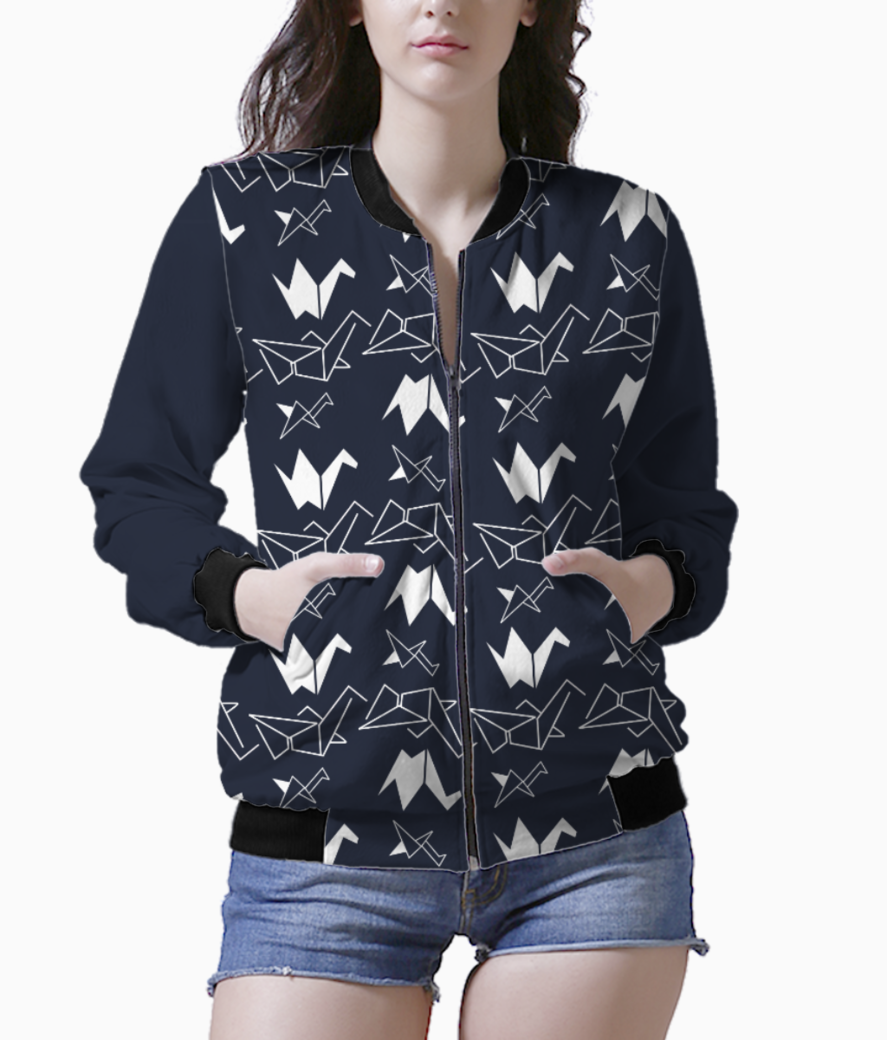 Abstract flock bomber front