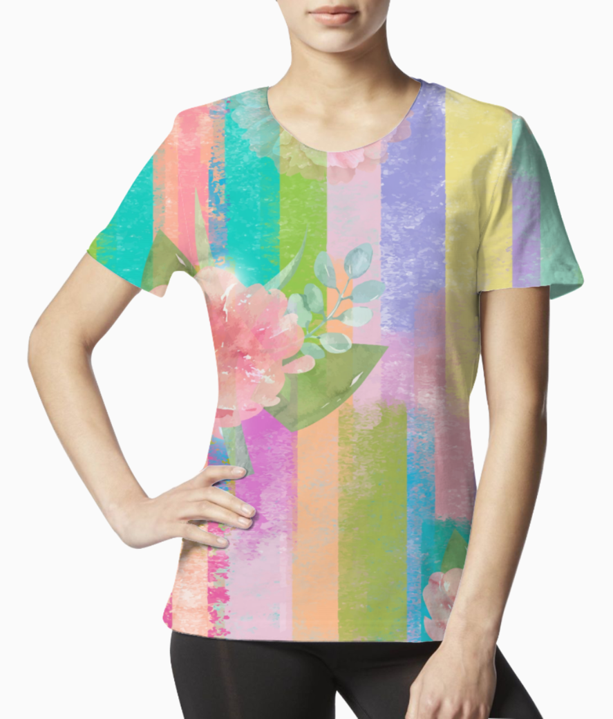 Floral 5 tee front