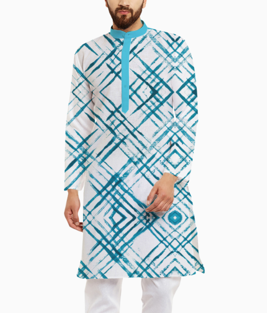 Radicatextiles crosshatchblue 720 735 kurta front