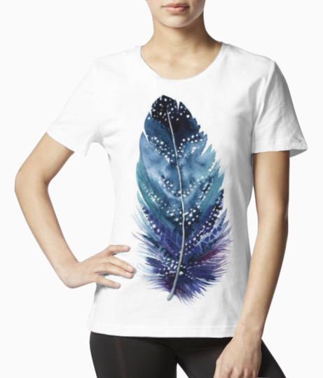 Feather art 2 tee front