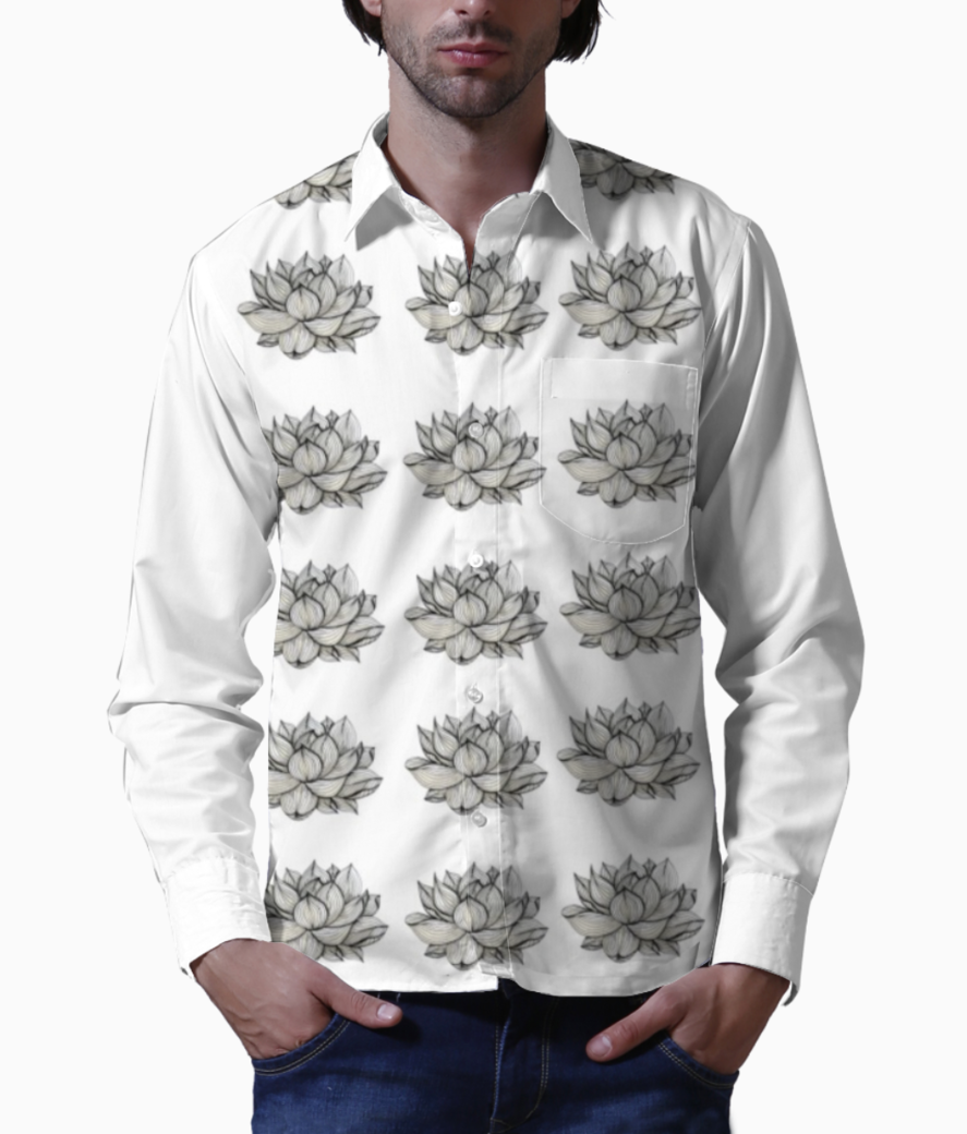 Lotus white basic shirt front