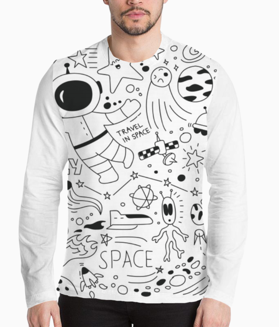 Space doodle henley front