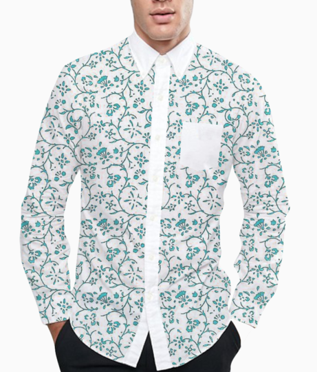 Intricate floral basic shirt front