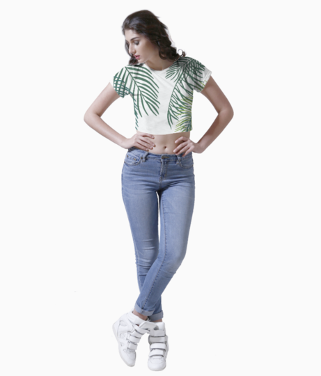 Leaves crop top front