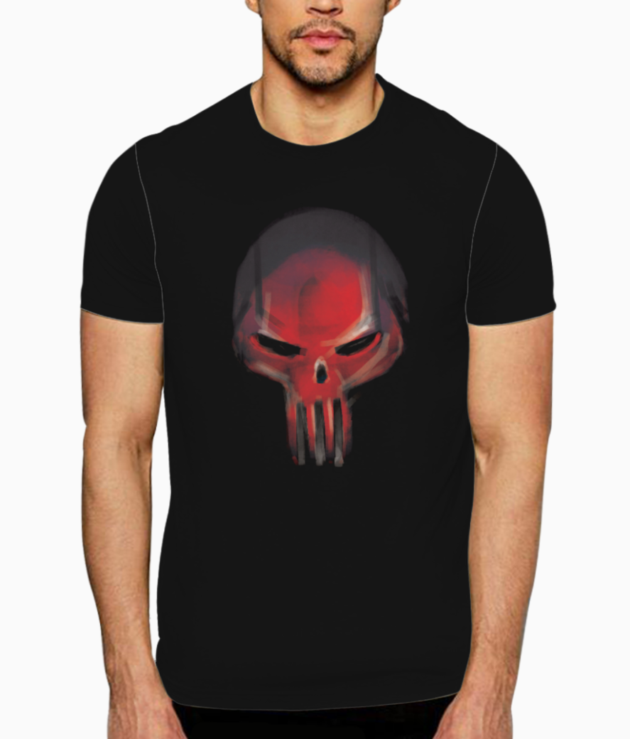 Red skull t shirt front