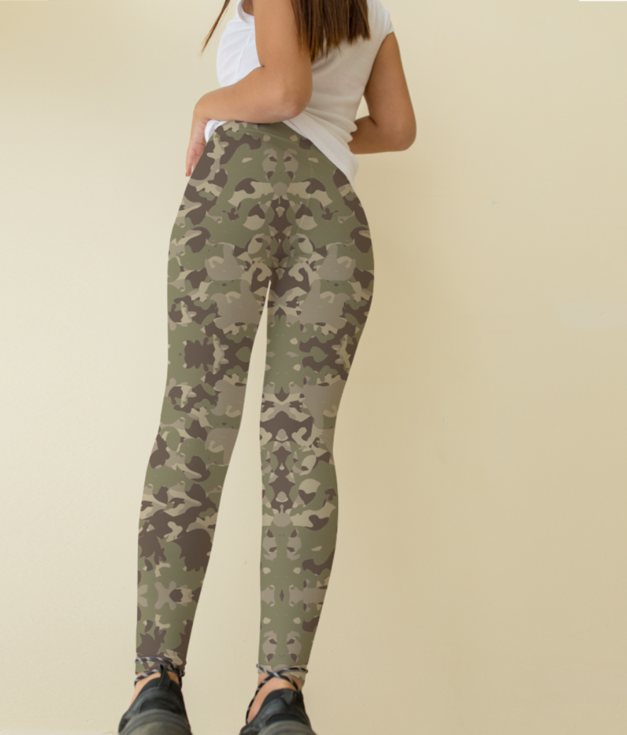 Camou leggings back