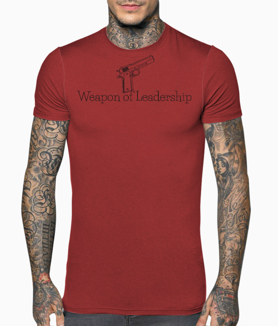 Weapon of leadership logo t shirt front
