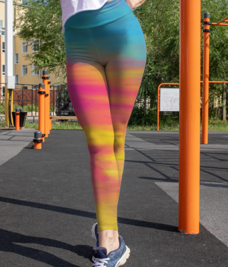 Colour shades leggings front
