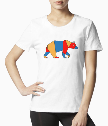 Bear polygon tee front