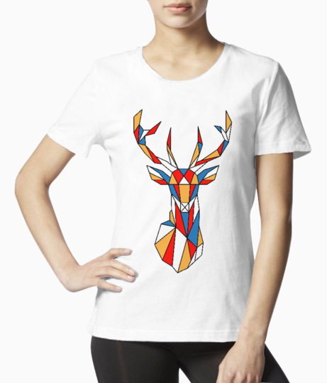 Deer polygon tee front