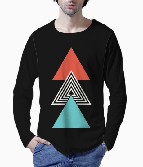 Ethnic triangle henley front