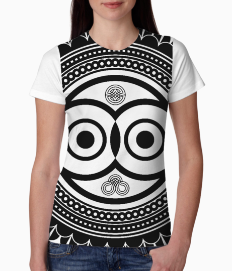 Abstract owl mandala tee front