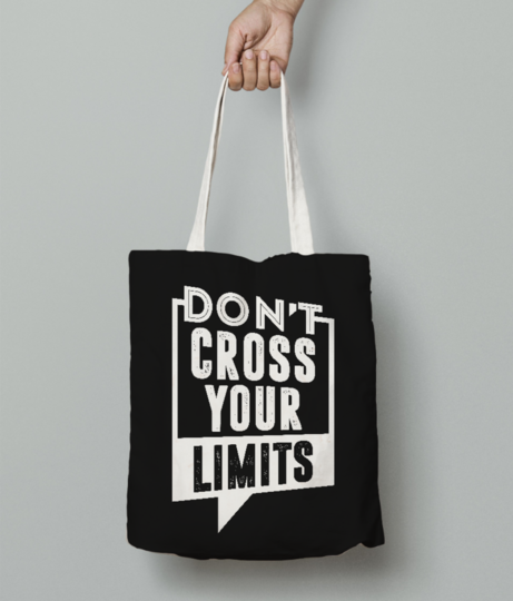 Dont cross tote bag front